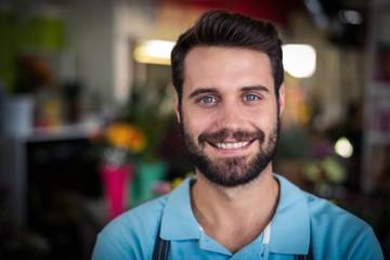 Portrait of male florist smiling