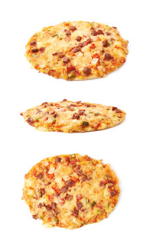 Mini pizza pastry isolated