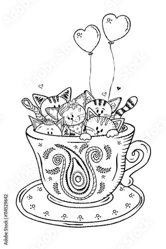 """""""kätzchen in der kaffeetasse"""" stockfotos und lizenzfreie"""
