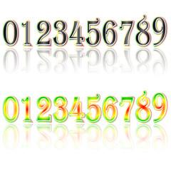 Digital Clock . Digital Uhr Nummer