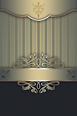 Decorative background with elegant border and patterns.