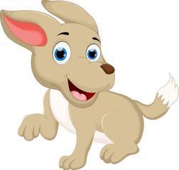 funny puppy cartoon posing