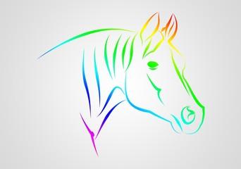 Horse illustration icon art design