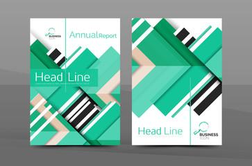 Clean geometric design annual report cover
