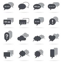 Vector Grey Speech Bubbles