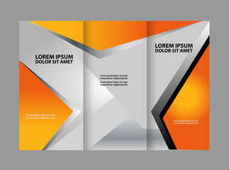 Tri-fold Brochure Template.Corporate business background or cover design can be use for publishing, print and presentation