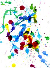 Colorful Paint Drips