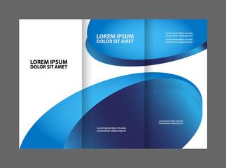 Blue wave brochure template