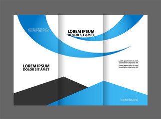 brochure design template vector trifold abstract