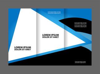 Tri-fold Brochure Design and Catalog Vector Concept Template