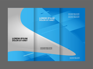 Professional business three fold flyer template, corporate brochure