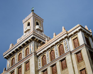 The Bacardi Building (Edificio Bacardi) is an Art Deco landmark in Havana, Cuba. After the Cuban revolution and the departure of Bacardi from Cuba, the building continued to be used for offices.
