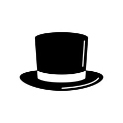 Magic top hat or high hat flat icon for apps and websites Design