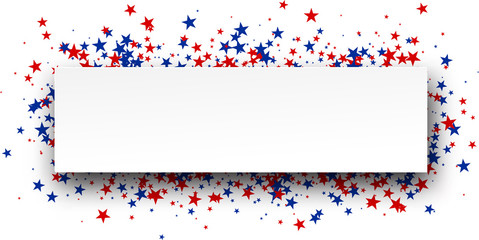 Banner with stars.