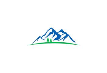 mountain nature pine tree logo