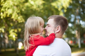 dad daughter nose to nose
