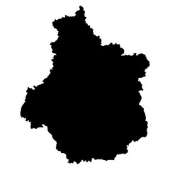 Centre black map on white background vector