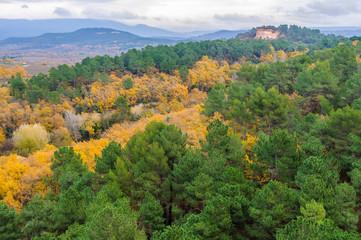 Poster de jardin Parc Naturel Fall landscape near Roussillon, Provence, France