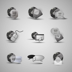 Collection Of Website Elements, Icons
