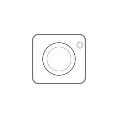 camera icon vector,