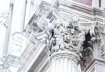 Kapitel of a rennessaince marble pillar