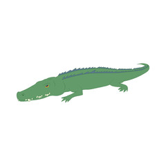 Crocodile icon, cartoon style