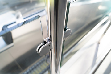 Fittings of a glass fence