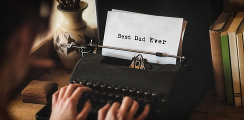 Man writing best dad ever