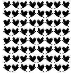 Background of flying birds.