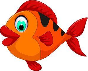 funny cute fish cartoon for you design