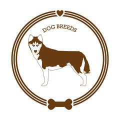 Dog breed sticker