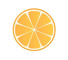 Simple orange slice