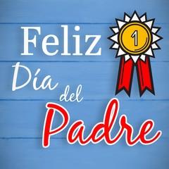 Composite image of feliz dia del padre