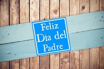 Composite image of word feliz dia del padre