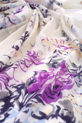Chinese style pattern made of fabric scarves