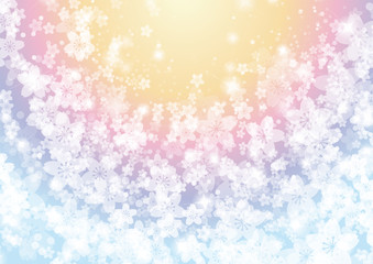 Rainbow of flowers background