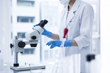 Women researchers are using the microscope