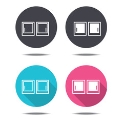 icon black pink and blue picture vector design