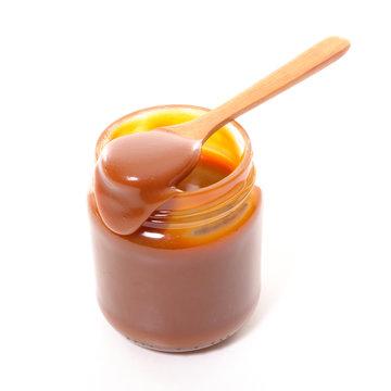 caramel in jar