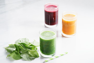 glass of fresh colorful healthy smoothie