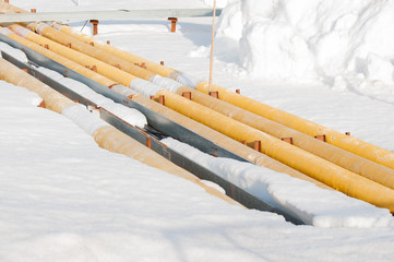 Pipeline in the snow