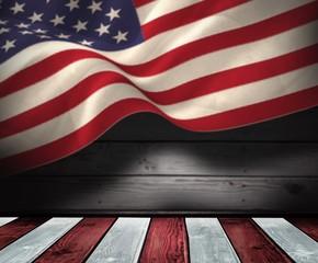 Composite image of united states national flag