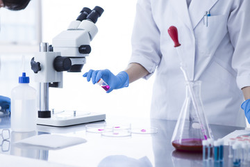 Researcher who are working in the laboratory