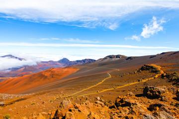Colorful slope of Haleakala Crater - Haleakala National Park, Maui, Hawaii