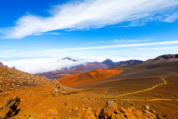Colorful slope of Haleakala Crater - Haleakala National Park, Maui, Hawaii