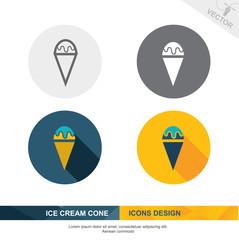 ICE CREAM CONE icon vector design