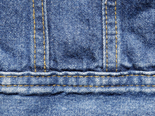 Jeans texture with seam