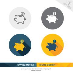 SAVING MONEY icon vector design