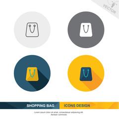 SHOPPING BAG icon vector design 2