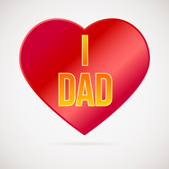 I love dad, greetings card